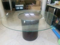 round clear glass top coffee table Scottsdale
