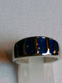 Created Blue Fire Opal Ring. sz.7,8,9, Mount Pleasant, 48858