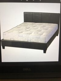 Queen Brown leather frame bed, will Deliver !