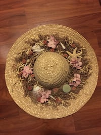 Large Decorative Hat with Shells