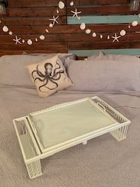 REDUCED: Vintage Breakfast & Magazine Wooden Wicker Bed Tray Oxnard, 93035