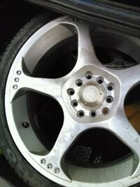3 new Low pro tires on 5 bolt rims New Westminster, V3M 2S4