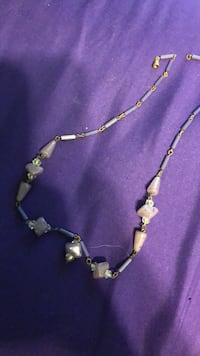 silver and black beaded necklace Emmaus, 18049