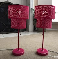 red and black table lamp Pasadena, 77503