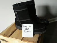 """Black, Khombu snow boots, gently used, ladies, size 10.  8 1/2"""" high Rosedale, 21237"""