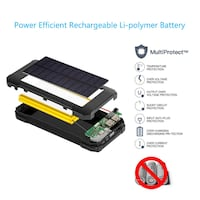 Solar Charger Power Bank 22000 mAh, Portable Solar Phone Charger