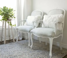 Large French Country Armchairs