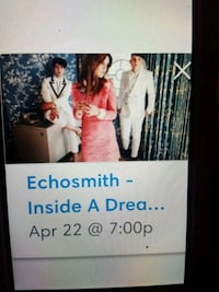 1 General Admission For Echosmith Concert
