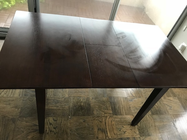 Wooden table dark brown