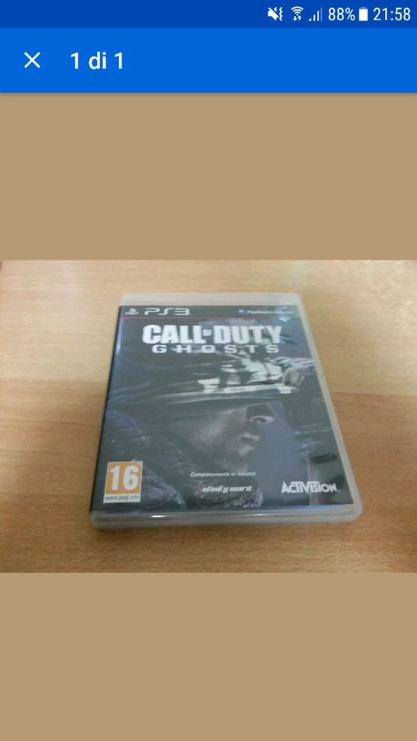 Caso di gioco Call of Duty Ghosts per PS3