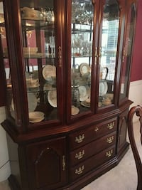 brown wooden china buffet hutch Bristow, 20136