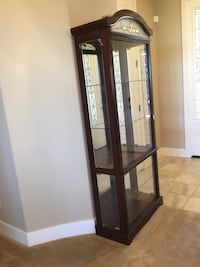 Brown wooden framed glass display cabinet Manteca, 95337