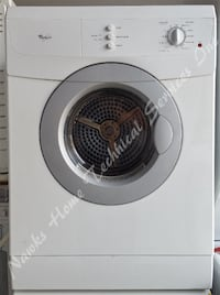 "Whirlpool 24"" compact dryer, 1 year warranty"