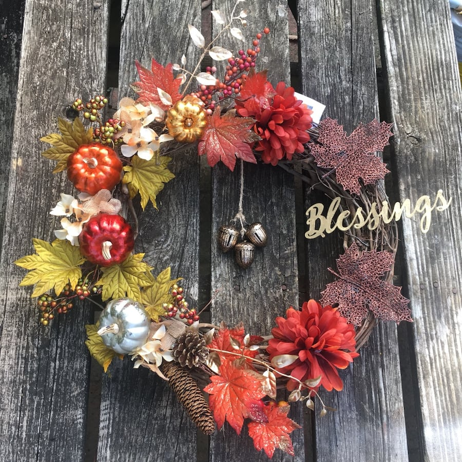 Fall Blessings Wreath-NEW