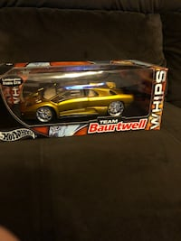 HOT WHEELS TEAM BAURTWELL FUNKMASTER, FLEX Mustard GOLD Metallic LAMBORGHINI DIABLO GTR 1:18 DIE CAST model sealed new in box with stand Niceville, 32578