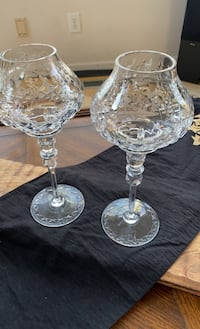 CRYSTAL CANDLE HOLDERS BEAUTIFUL