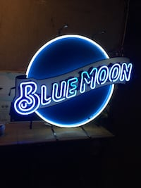 Brand new Blue moon neon signage Newburgh town, 12550