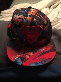 red and black Superman fitted cap Bloomsdale, 63627