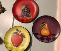 Antique wall ceramic plates by home interiors  Cheney