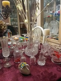 crystal glasses and decanter best offer