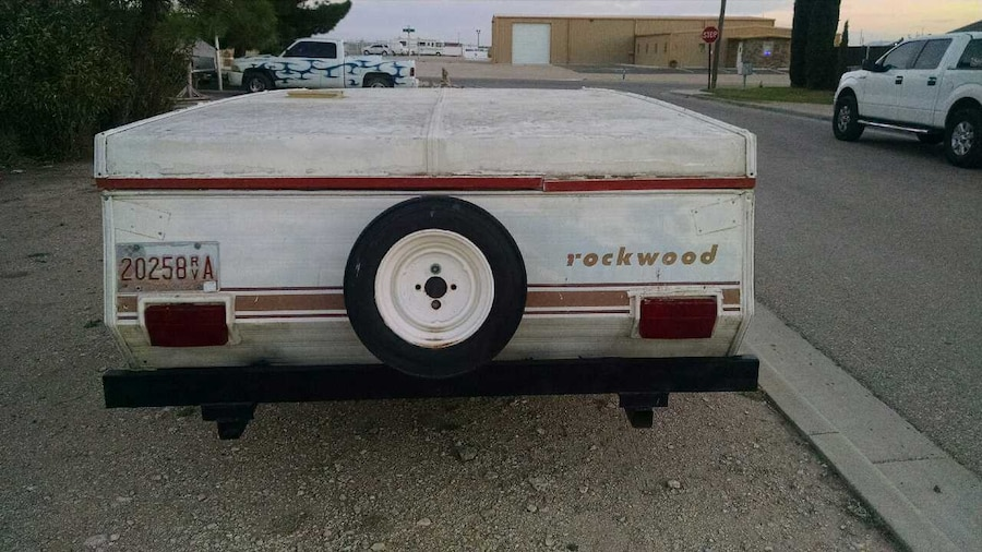 white Rockwood trailer - NM