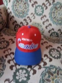 red and blue Montreal Canadiens cap
