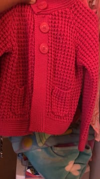 red knitted button-up cardigan Fullerton, 92833