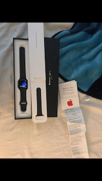 black Apple Watch with black sports band Bakersfield, 93313