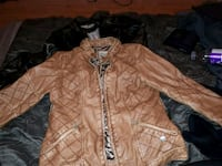 Woman's med leather jacket Edmonton