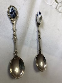 2 vintage ceramic silver plate travellin Holland spoons Bay Lake, 32830