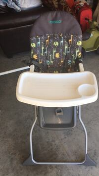 baby's white and black highchair Maysville, 28555