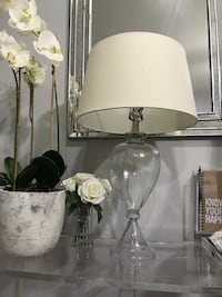 two clear glass table lamps Gilbert, 85297
