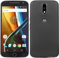"Brand New in Box Moto G4 Plus 32GB Unlocked Black 5.5"" FHD Regina"