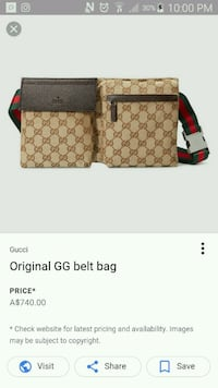 brown monogrammed Gucci belt bag screenshot