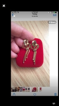 Gold 18KARAT Tricolor Earring  Toronto, M4A