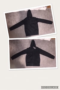 black and white zip-up hoodie Woodford, 22580