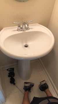 white ceramic sink with stainless steel faucet Clarksburg, 20871