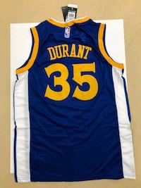 blue, yellow, and white Durant 35 jersey top Gatineau, J9J 3S3