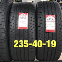 2 used tires 235/40/19 Nexen (A)