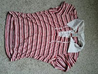 women's pink, black, and white stripe-printed top San Diego, 92154