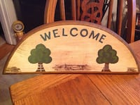 """COUNTRY WOODEN """"WELCOME"""" SIGN Catasauqua, 18032"""