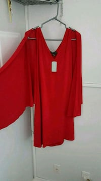 Red & purple dress with Cape sleeves  Toronto, M3H 1V1