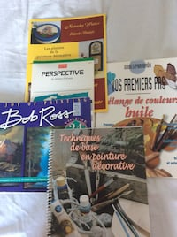 5 painting technique books. Some new. Value of 100$ Laval, H7X 3M8