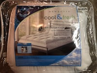 Cool and fresh queen size mattress pad  Addison, 75001