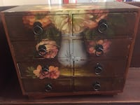 Painted wooden storage box  White Plains, 10603