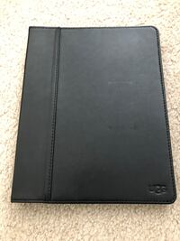 UGG Australia Black Leather Work Easel Tablet/Ipad Case - NEW in box