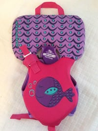 Baby's pink and purple whale Life Preserver