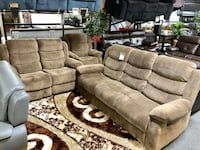 7pc. Package! Sofa, loveseat, coffee & 2 end tables, and 2 lamps ROSEDALE