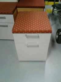 File  cabinet 2 drawer rolling pedestal  with cushion Falls Church, 22042