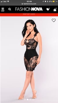 Fancy black lace dress (SMALL) 539 km